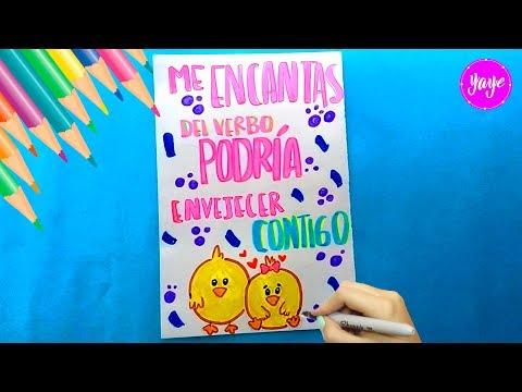 Ideas Para Dibujar Hermosa Tarjeta De Amor Y Amistad