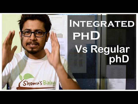 Integrated Phd Vs Regular Phd | Which Has Better Career Option ?