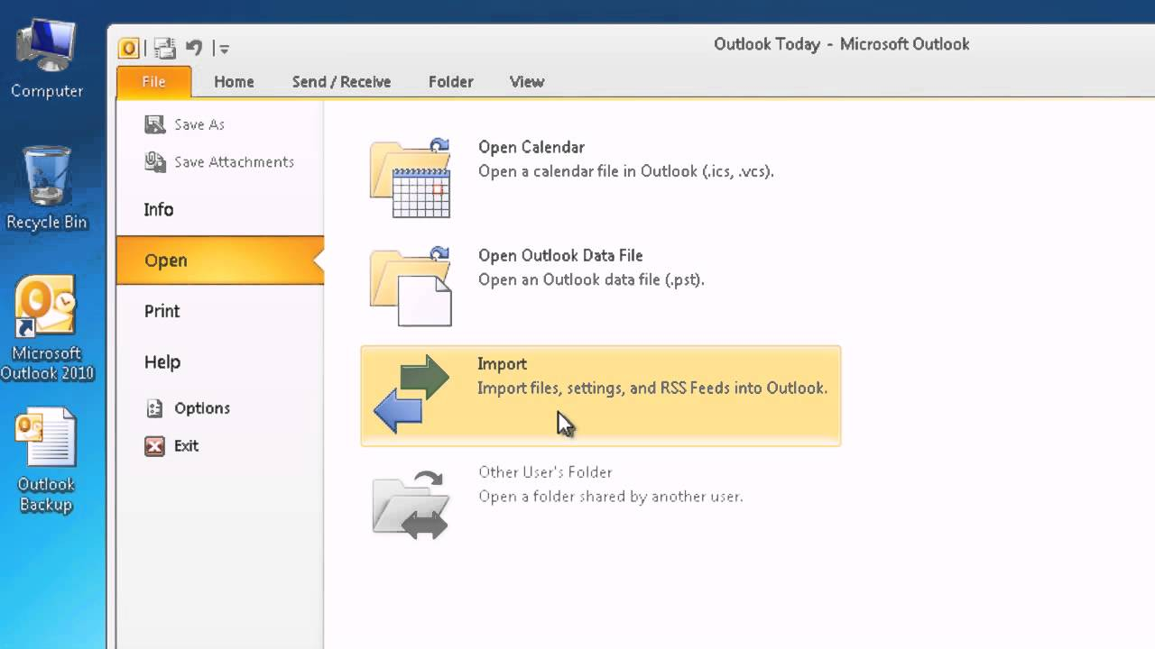 how to remove pst file from outlook 2010