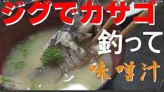 ジグでカサゴを釣ってお味噌汁!ライトショアジギング 釣りよか thumbnail