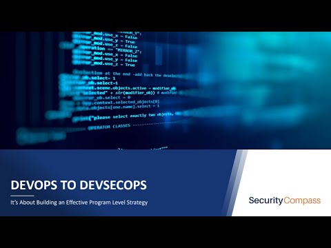 Webinar: From DevOps to DevSecOps: It's about building an effective program level strategy.