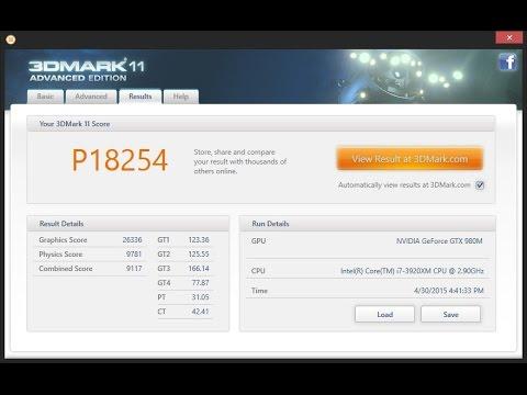 3DMark 11 | Alienware M18X-R2 | SLI GTX 980M Prema MOD 1 1 | Power  consumption test