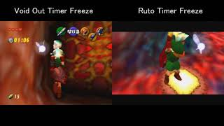 N64 All Dungeons Jabu Timer Freeze Comparison Void Out vs Ruto