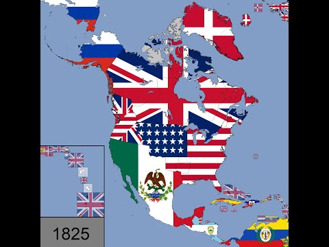 North America: Timeline of National Flags: 1450 - 2020