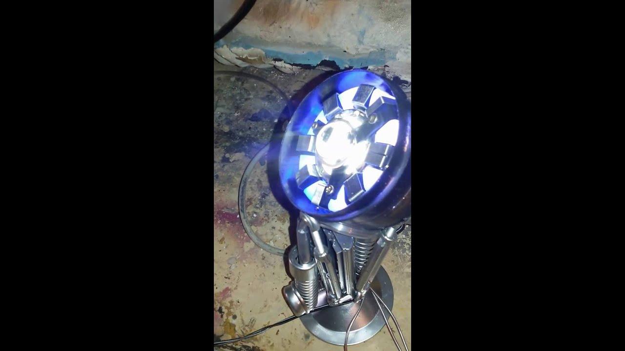 Faretto 12 Volt Led.Iron Man Arc Reactor Fatto Con Faretto Da Muro A 12 Volt Piu Stringa Led