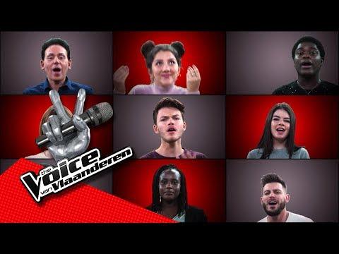 De liveshowkandidaten zingen 'Cheap Thrills' | The Voice van Vlaanderen | VTM