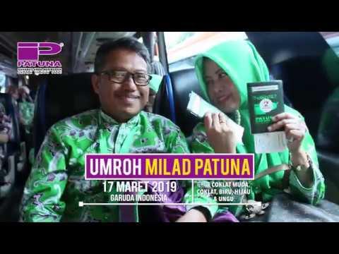 Proses boarding rombongan Jamaah Umrah Milad Patuna keberangkatan 17 Maret 2019 by Garuda Indonesia .