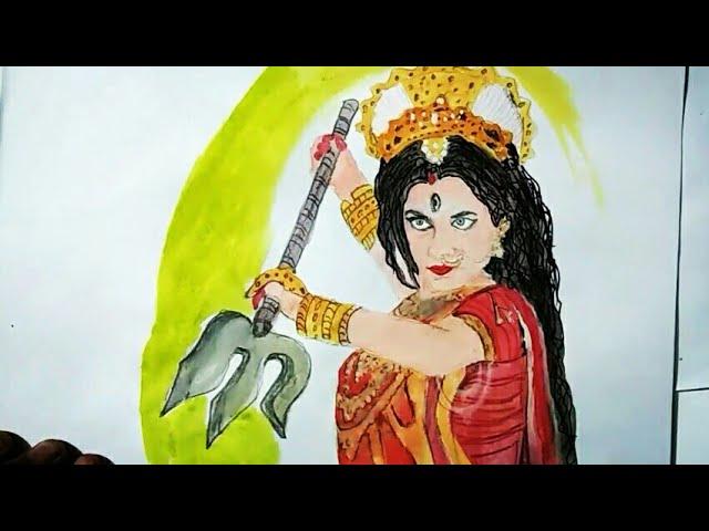 Navratri Special 2018- Maa Durga Drawing- pooja Sharma as Maa Durga-Mahakali