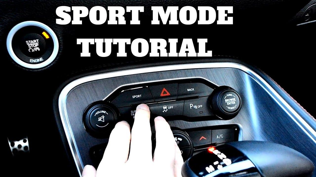 2018 Dodge Challenger >> Dodge Challenger ScatPack: Sport Mode Explained - YouTube