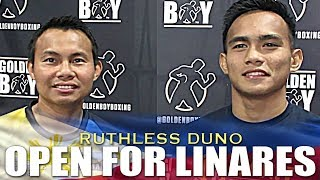 DUNO WILLING TO FIGHT LINARES IF GIVEN THE OPPORTUNITY