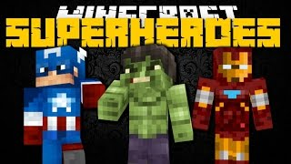 Minecraft Mod Showcase: SUPERHEROES UNLIMITED (HULK, IRON MAN & CAPTAIN AMERICA)