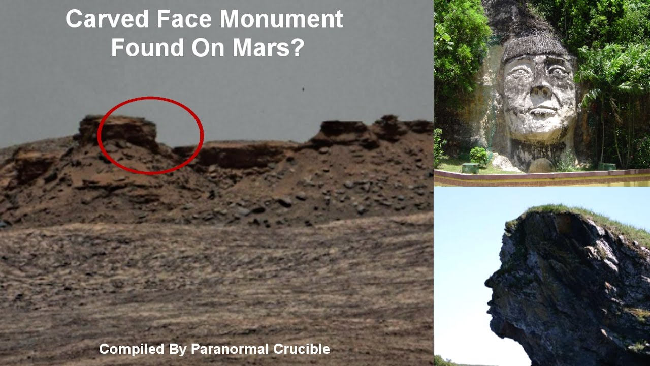 Carved face monument found on mars youtube