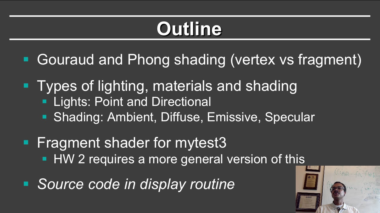Online Graphics Course OpenGL Shading: Fragment Shader Example (OpenGL 3+)