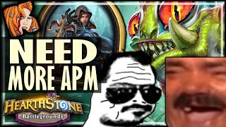 TESS IS GOING TO NEED MORE APM! - Hearthstone Battlegrounds