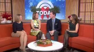 Natalie Morales & Dylan Dreyer - leggy and nice high heels on couch