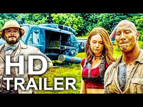 Movie Trailer  - JUMANJI 2 ALL Movie Clips + Trailer NEW 2017 Dwayne Johnson Comedy Movie HD