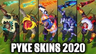 All Pyke Skins Spotlight 2020 (League of Legends)