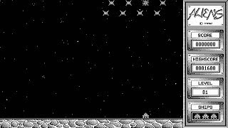 ATARI ST Aliens 1992 12 14 PD OLDSTYLE BW SHOOTER Pool