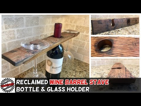 Reclaimed Barrel Stave Wine Holder - Free Cutting Template