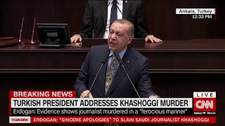 Erdogan says Khashoggi was victim of 'ferocious' pre-planned murder
