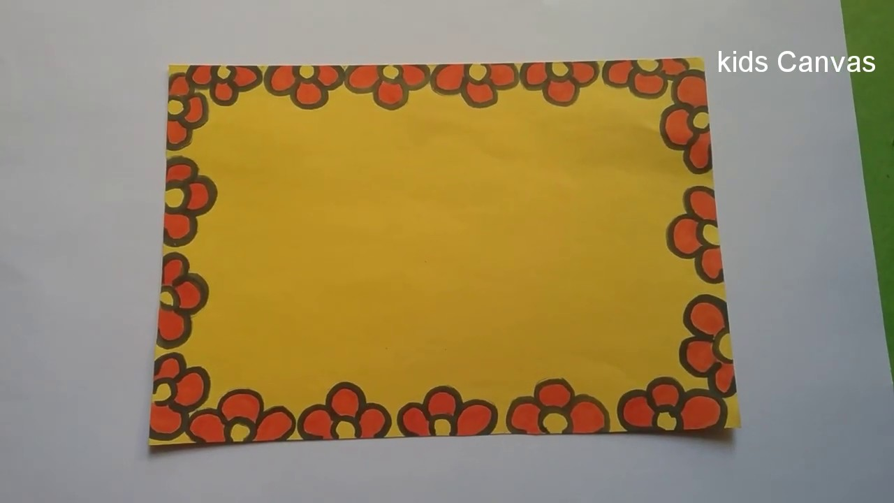 How to draw border designs,greeting card designs, DIY ,easy designs with  basic shapes