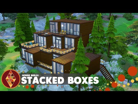 Stacked Boxes - The Sims 4 - House Build | HD thumbnail