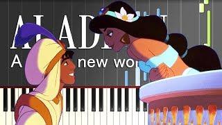 ディズニー映画『アラジン』より「ホール・ニュー・ワールド」のピアノ...