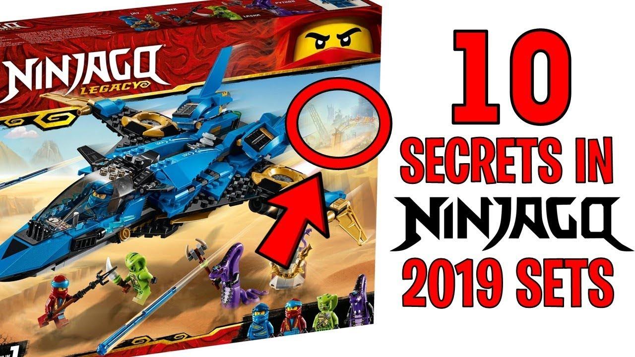 10 Hidden Secrets In The Lego Ninjago 2019 Sets Youtube