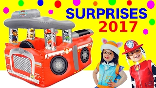 2017 SURPRISES Paw Patrol Marshall FIRETRUCK TENT Filled with Paw Patrol Toys Playland