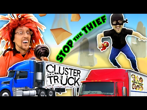 TRY 2 STOP ME! HIGH SPEED TRUCK JUMPING PARKOUR CHASE FGTEEV CLUSTER TRUCK Funny Gameplay Skit