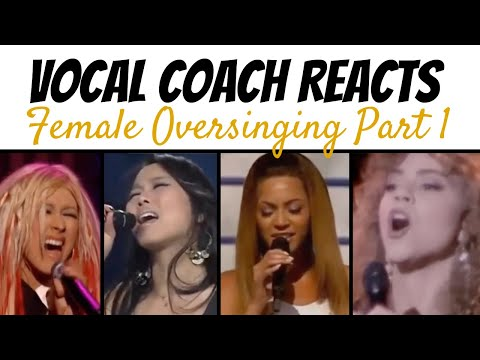 Vocal Coach Reacts to Female Singers Oversinging - Beyonce Mariah Christina So Hyang Morissette