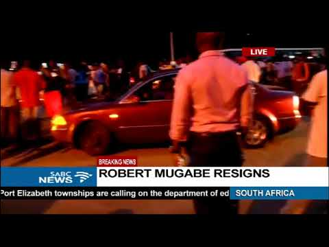Wild jubilation in the streets of Harare
