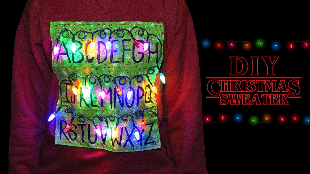 Make An Ugly Christmas Sweater With Lights
