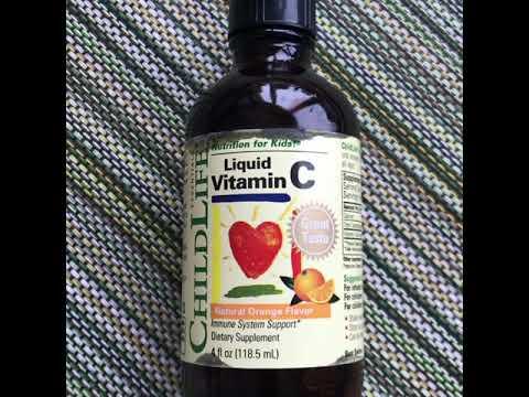 Жидкий витамин C для детей с Iherb