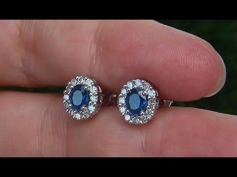 estate certified natural vvs blue sapphire diamond 14k. Black Bedroom Furniture Sets. Home Design Ideas