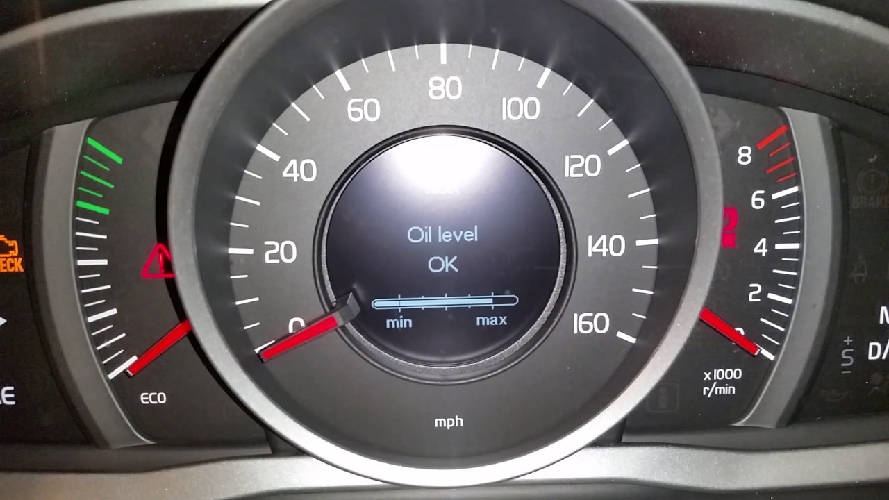 2010-2017 Volvo XC60 SUV - How To Check Oil Level - Driver Information Center Menu - YouTube