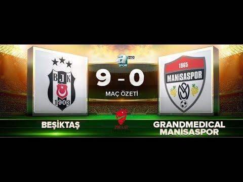 Beşiktaş 9-0 GrandMedical Manisaspor | ZTK | Maç Özeti | HD | a spor | 28.11.2017