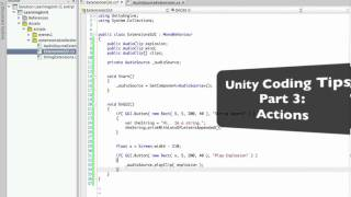 Unity Coding Tips Part 3: Actions