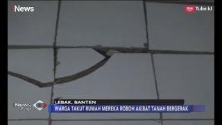 Retak! Warga Lebak Banten Resah Adanya Fenomena Tanah Bergerak - iNews Pagi 17/02