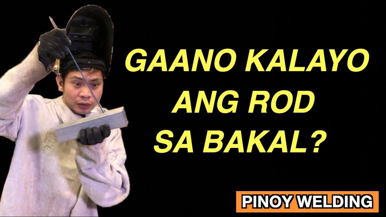 Gaano KALAYO ang WELDING ROD sa BAKAL | Pinoy Welding Tips