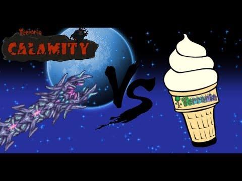 Vanilla Terraria + Luiafk Mod vs. Devourer of Gods (Modded Terraria)