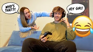Gaming With Girls Online To See How My Girlfriend Reacts! *HILAROUS*