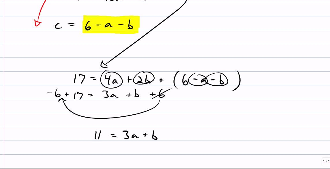 Equation Of Parabola Given 3 Points Youtube