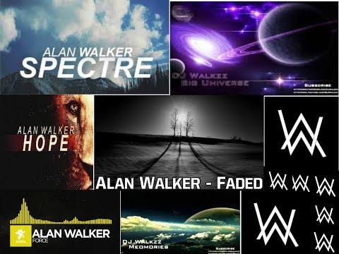 Alan Walker: Fade, Force, Spectre, Hope, Big Universe, and Memories. (in order)