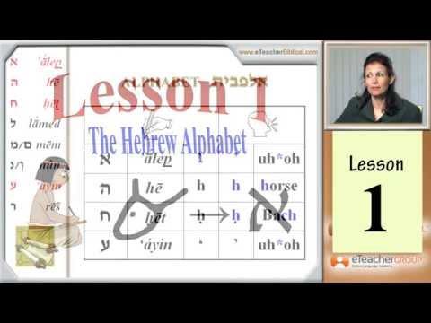 Learn Biblical Hebrew - lesson 1 - Hebrew AlefBet   by eTeacherBiblical.com