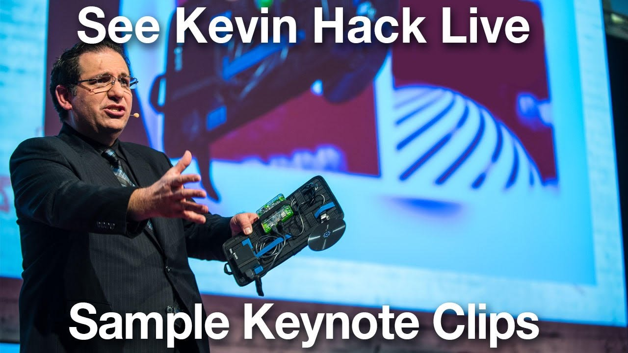 Kevin Mitnick   Sample Speaking Clips and Hacks You'll See Live #1
