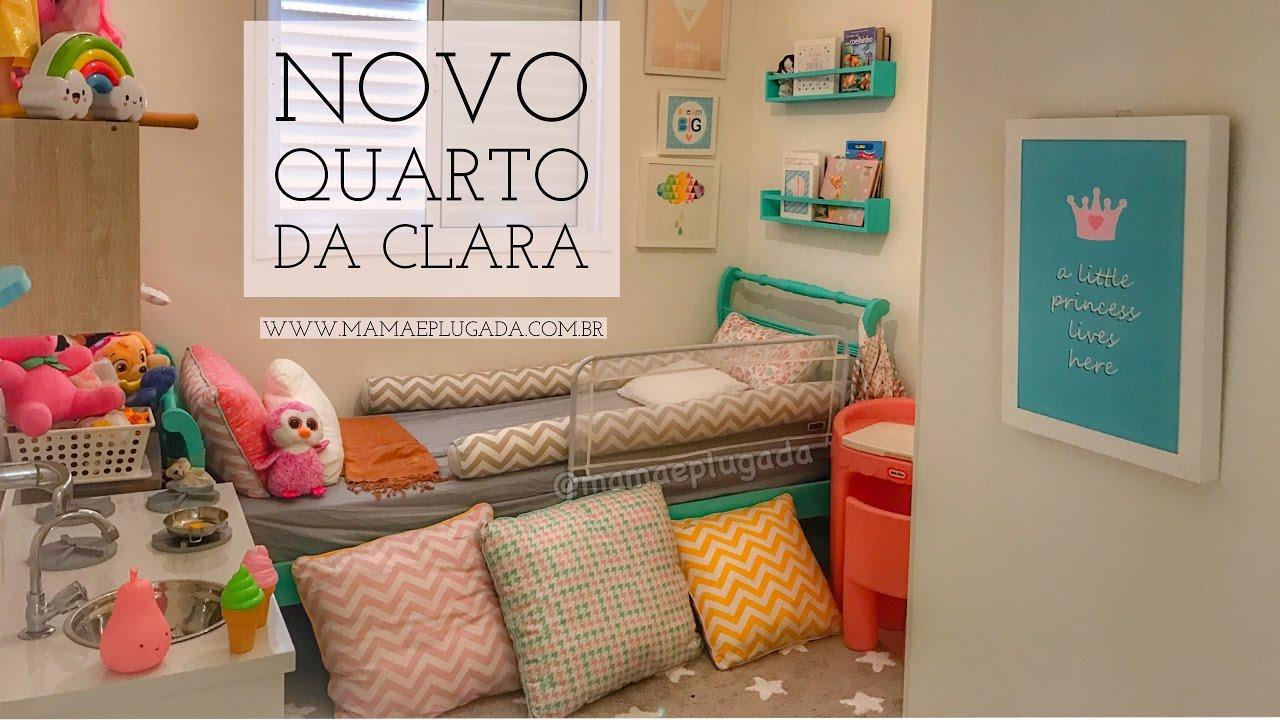 Quarto Infantil Moderninho, cor Menta  Novo Quarto da Clara, na nova casa (F