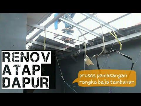 kanopi baja ringan untuk dapur renovasi atap menggunakan bahan asbes dan