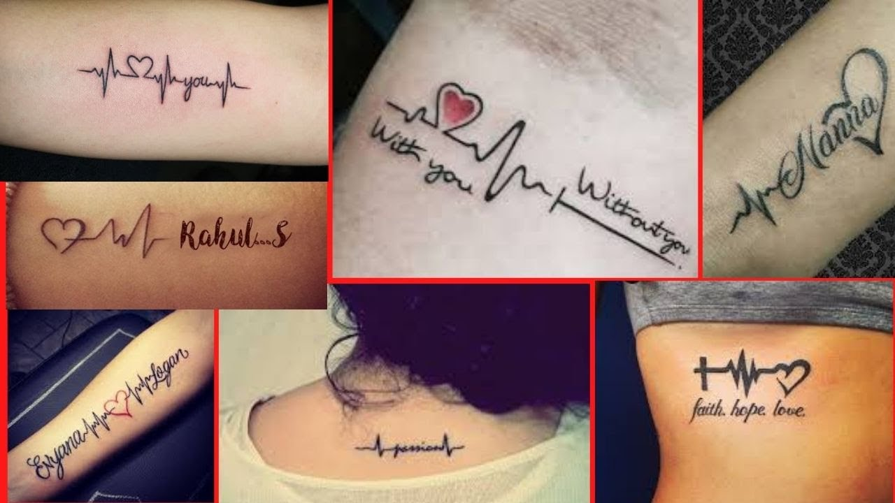 Meaningful Heartbeat Tattoo Designs With Names Couple Love Tattoos Name Tattoos Fashion Wing Youtube Best fonts, placement ideas, female and male tattoos. meaningful heartbeat tattoo designs with names couple love tattoos name tattoos fashion wing