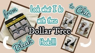 From BLEAK to CHIC | LOOK what I do with these DOLLAR TREE HOOKS |